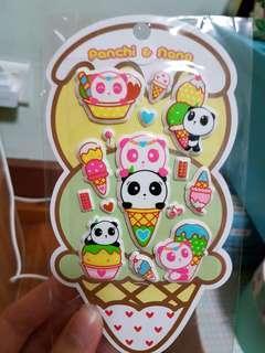雪糕熊貓Panda貼紙stickers