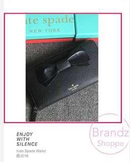 💥ON SALE! ♠️Kate Spade Women Ribbon 🎀 Zippy Long Wallet @ Black (Pre-Order)