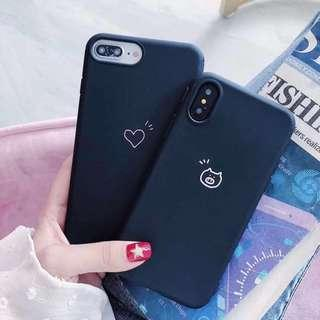 (PO) Korean Black Pig Heart Phone Case