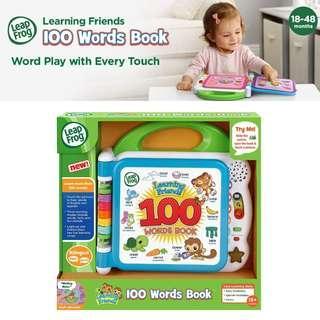 BNIB: LeapFrog Learning Friends 100 Words Book, Green