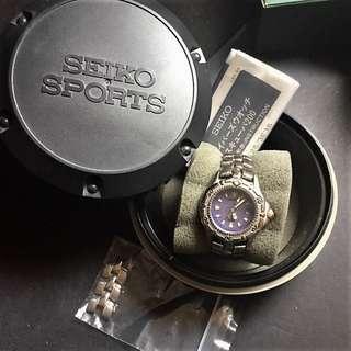 SEIKO scuba diver 200m quartz watch. Stainless Steel. Gunmetal Color