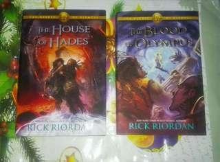 Heroes of Olympus Book 4 & 5