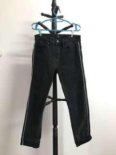Coton On Highwaist Cropped Slim Leg Jeans