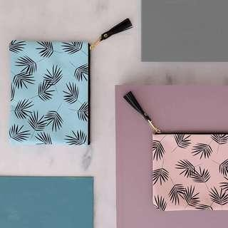 For Me Pink Leaf Pouch