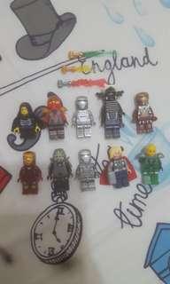Lego Minifigurines!! Ninjago,Iron Man,Thor Etc.