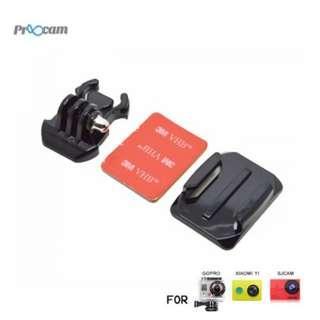 Proocam Pro-J013 Gopro Helmet Curved Surface & Mount for Gopro Hero 6,5,4,3,2,1 Action Camera