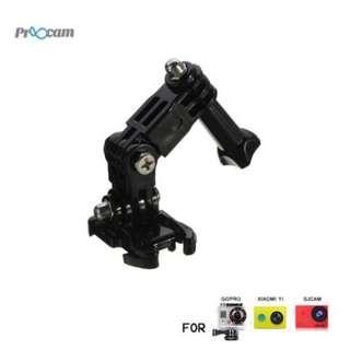Proocam Pro-J015B Three-way Adjustable Pivot Arm with Quick Clip for Gopro Hero , SJCAM , MI YI