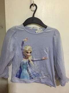 H&M Disney Frozen Elsa Long-sleeved top, girls