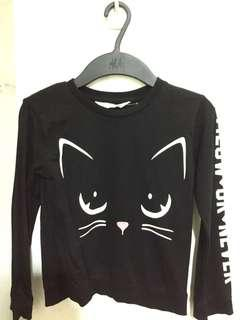 H&M Girls' long-sleeved top - MEOW