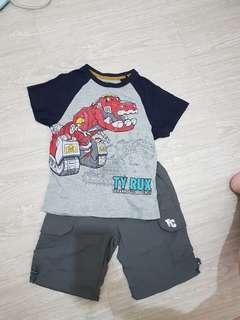 🚚 Hang Ten T-shirt&休閒短褲(6/7號)