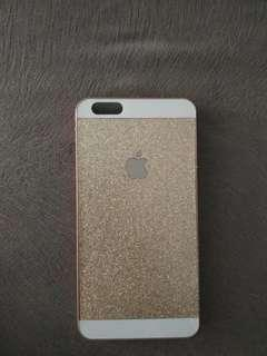 Casing Iphone 6+ gold glitter