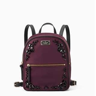 Time Sales! Authentic Kate Spade WKRU5412 Wilson Road Embellished Small Bradley Backpack