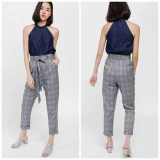 BNIB Prischa Tweed Cuffed Pants