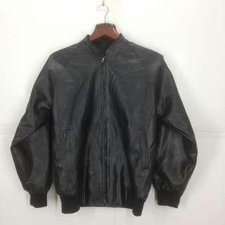 Pvc not leather bikers jacket