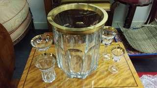 Moser Pope crystal ice bucket