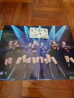 Yes! 雜誌AOA & 4Minute 雙面Double-sided Poster 同 Postcard x 1張