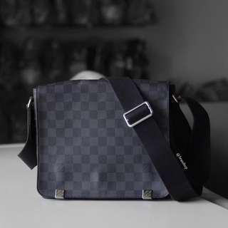 Authentic Louis Vuitton Damier Graphite District PM LV