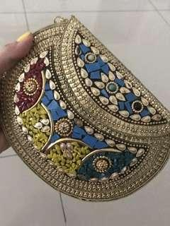 Delhi bag gold colourful mosaics