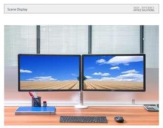 """DUAL MONITOR SAMSUNG CURVED 24"""" C24F390 set up"""