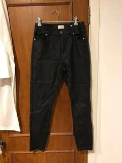 COTTON ON leather jeans