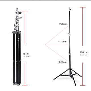 Selens Air-Cushion Heavy Duty Light Stand 220cm 7.2ft SGT-2200A with carrying Bag