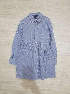 🚚 全新 Polo Ralph Lauren 女童條紋長袖洋裝-8號