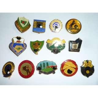 Vintage Metal LAWN BOWLS Badges 1976-1990 Australia