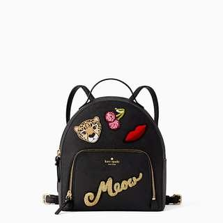 Time Sales! Authentic Kate Spade WKRU5375 Run Wild Leopard Tomi Backpack