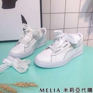 PUma清新女款~滑板鞋(真皮)38🎉含運