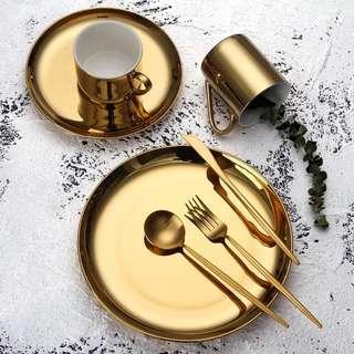 Gold Plated Coffee Mug / Gold Plate