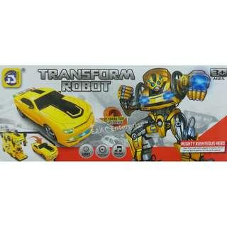 Bumblebee Transformer Robot Bump and Go Car - A toy for Kids