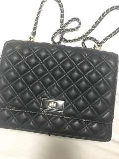 Charles and Keith Quilted Sling Bag