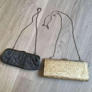 Two party clutches/ cling bags