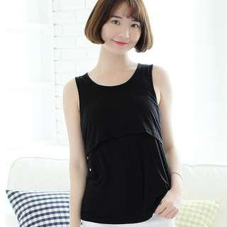 maternity top Black Sleeveless Top nursing top maternity express