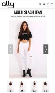 BLACK - Multi Slash Jeans