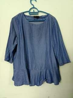 Seed soft denim blouse #midsep50
