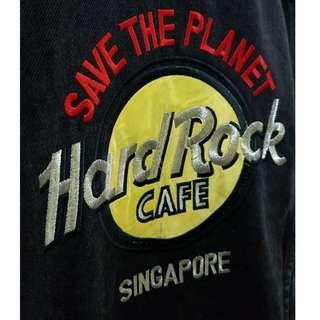 Hard Rock Singapore Black Denim Jacket, S. (Original)