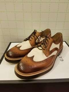 Gucci MEN Size 6.5 wintips canvas leather shoes