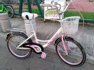 20吋粉紅色中童單車