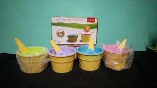16pcs ice cream bowl and 16pcs spoons