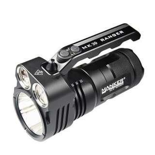 (FREE Delivery_6,000 Lumens) Manker MK39 Ranger Flashlight/Searchlight with Flood & Throw Beams_1.1KM Throw