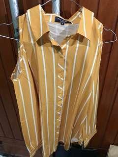 Striped yellow blouse