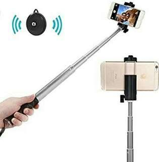 (1141) Bluetooth Selfie Stick, APPHOME Aluminum Extendable Monopod with Wireless Remote Shutter Adjustable Phone Holder for iPhone 7 Se 6s 6 Plus Samsung Galaxy S6 Note 5 4 Android, BLACK