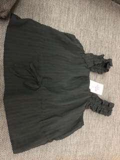 BRAND NEW black garter top