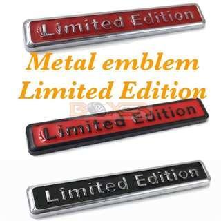 Limited Edition metal emblem