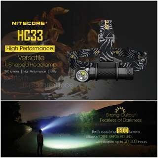 (In-stock) Nitecore HC33 High Performance LED Headlamp_1,800 Lumens_Magnetic Base