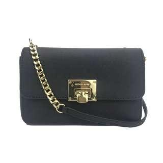🚚 NEW ARRIVAL Michael Kors Tina Wallet + Clutch Crossbody Bag Black with Gold Tone Hardware