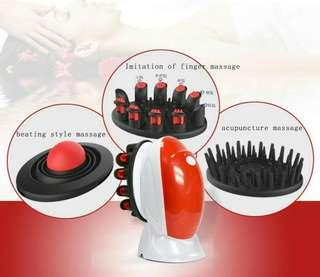 (1145) Waterproof Electric Hair Washing Brush Comb with Vibrating Head Massager Function Red