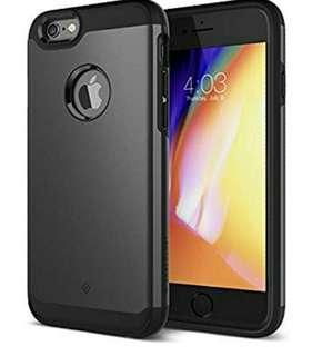 (1147) Caseology for iPhone 6S Plus case/iPhone 6 Plus case [Legion Series] - Slim Heavy Duty Protective Armor Dual Layer Tough Design Case for iPhone 6S Plus/iPhone 6 Plus - Gunmetal