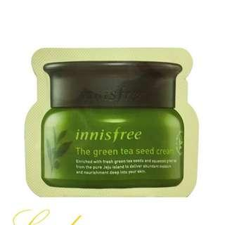 #midsep50 FREE SHIPPING INNISFREE THE GREEN TEA SEED CREAM X 5 SACHETS